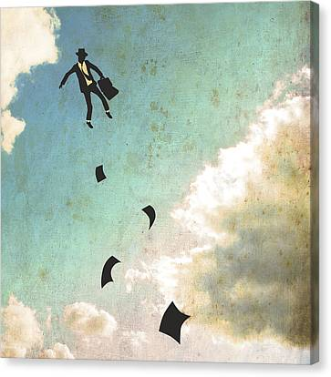 Falling Up Canvas Print by Jazzberry Blue