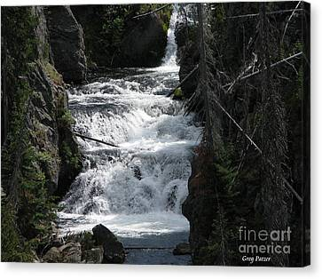 Falling Water Canvas Print by Greg Patzer