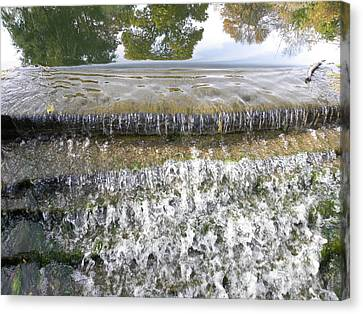 Canvas Print featuring the photograph Falling Water by Teresa Schomig