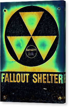 Fallout Shelter Abstract 2 Canvas Print