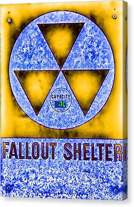 Fallout Shelter Abstract 4 Canvas Print by Stephen Stookey