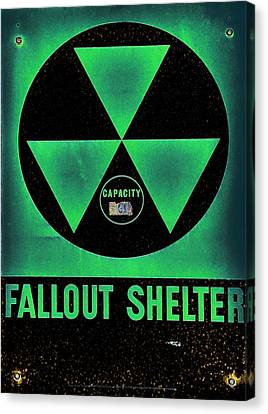 Fallout Shelter Abstract 6 Canvas Print