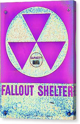 Fallout Shelter Abstract 7 Canvas Print