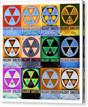 Atomic Canvas Print - Fallout Shelter Mosaic by Stephen Stookey