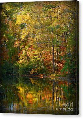Fallpainting Canvas Print by Yvette Radcliffe