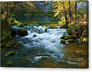 Canvas Print featuring the photograph Falls At Alley Spring Mill by Julie Clements