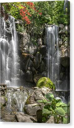 Falls At Anderson Japanese Gardens Canvas Print