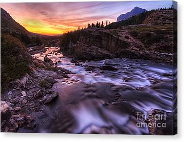 Falls At First Light Canvas Print by Mark Kiver