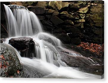 Falls At Melville Canvas Print by Andrew Pacheco