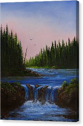 Falls At Rivers Bend Canvas Print by C Steele