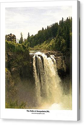 Canvas Print featuring the photograph Falls At Snoqualmie by Kenneth De Tore