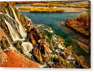 Canvas Print featuring the photograph Falls Creek Waterfall by Greg Norrell