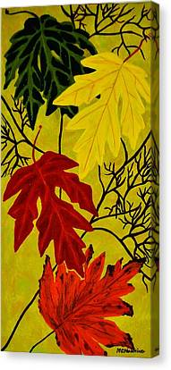 Canvas Print featuring the painting Fall's Gift Of Color by Celeste Manning