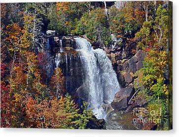 Falls In Fall Canvas Print by Lydia Holly