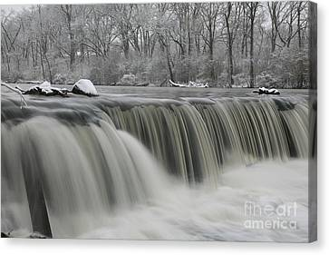 Falls In Winter Canvas Print by Timothy Johnson
