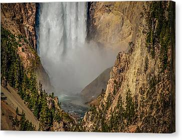 Falls Mist Canvas Print by Yeates Photography