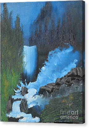 Falls On The Rocks Canvas Print by Dave Atkins