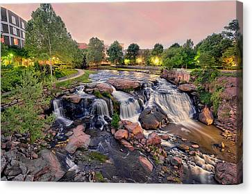 Falls Park Canvas Print by Brent Craft
