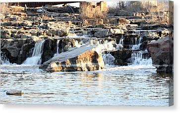 Falls Park Waterfalls Canvas Print by Lori Tordsen