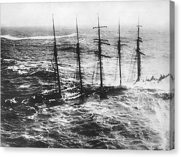 Falmouth England Shipwreck Canvas Print by Underwood Archives