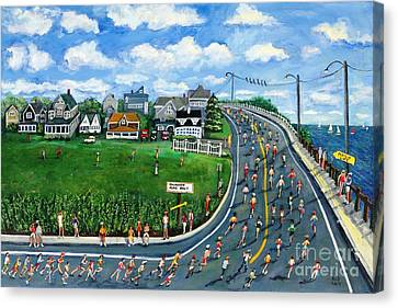 Falmouth Road Race Running Falmouth Canvas Print