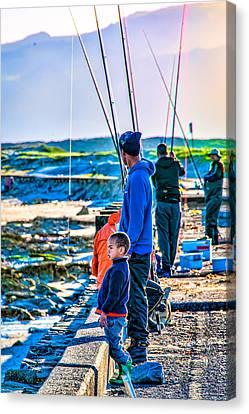 False Bay Fishing 2 Canvas Print by Cliff C Morris Jr