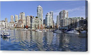False Creek And Vancouver Canvas Print