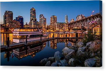 False Creek From Granville Island Canvas Print by Alexis Birkill