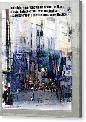 Fame On A Street Corner Canvas Print by John Fish