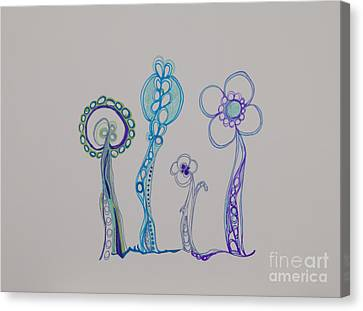 Painted Details Canvas Print - Families 23 by Christina Naman