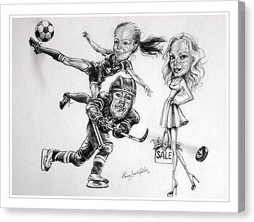 Family Caricature Canvas Print
