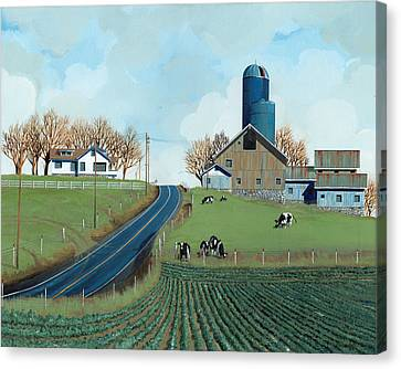 Family Dairy Canvas Print by John Wyckoff