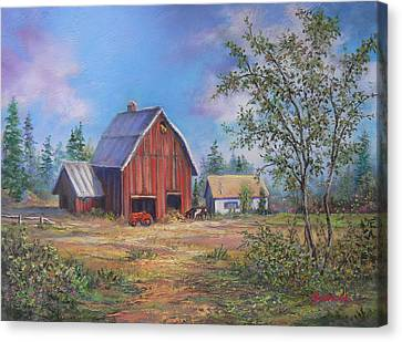 Family Farm  Canvas Print by Gracia  Molloy
