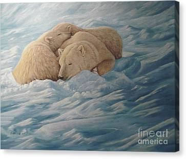 Family Canvas Print by Gilles Delage