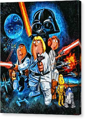 Family Guy Star Wars Canvas Print