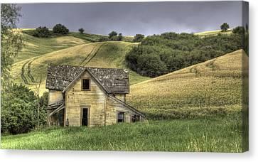 Contour Farming Canvas Print - Family House by Latah Trail Foundation