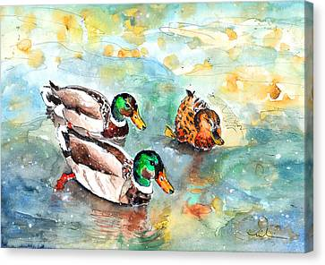 Family Life On Lake Constance Canvas Print by Miki De Goodaboom