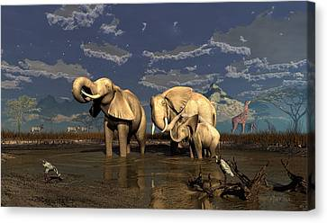 Family Matters Canvas Print by Dieter Carlton