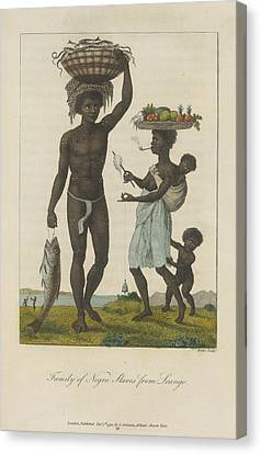 Family Of Negro Slaves Canvas Print by British Library