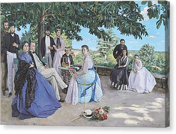 Family Reunion, 1867 Oil On Canvas Canvas Print by Jean Frederic Bazille