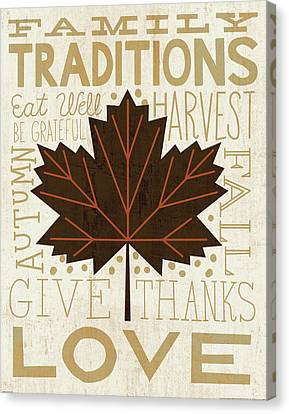 Family Tree Leaf I Canvas Print by Michael Mullan