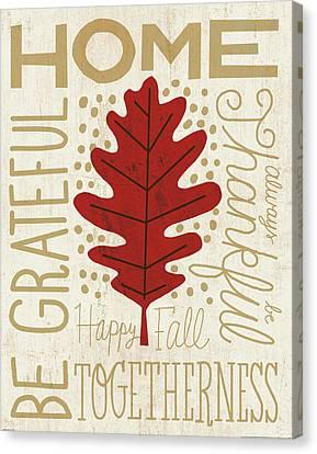 Family Tree Leaf II Canvas Print by Michael Mullan