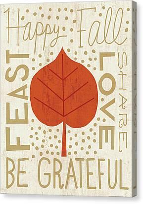 Family Tree Leaf IIi Canvas Print by Michael Mullan