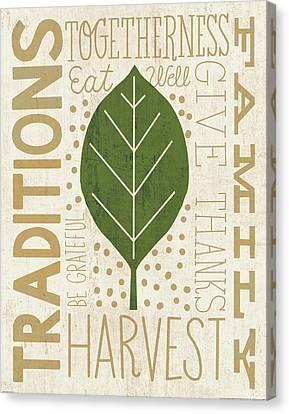 Family Tree Leaf Iv Canvas Print by Michael Mullan