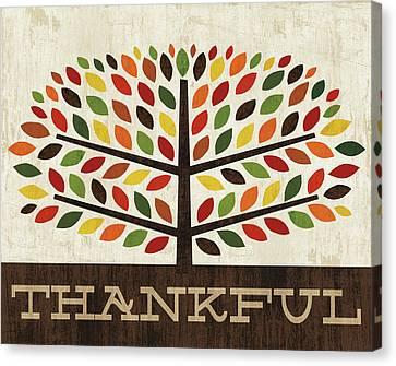 Family Tree - Thankful Canvas Print by Michael Mullan