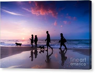 Family Walk Canvas Print