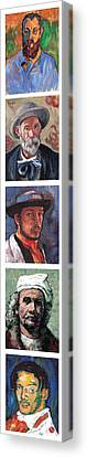 Famous Artists  Canvas Print by Tom Roderick