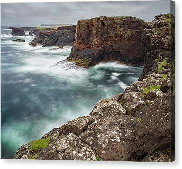Famous Cliffs And Sea Stacks Of Esha Canvas Print