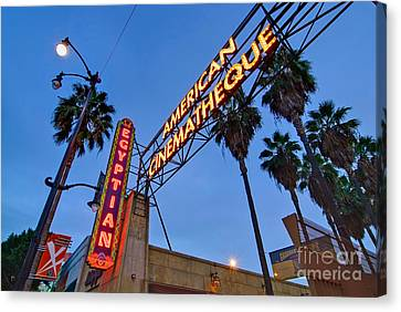 Famous Egyptian Theater In Hollywood California. Canvas Print by Jamie Pham