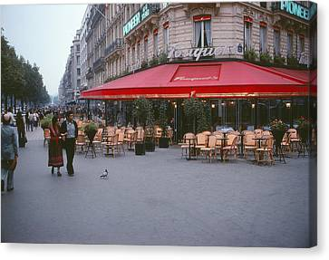 Famous Paris Restaurant - Fouquet's Canvas Print